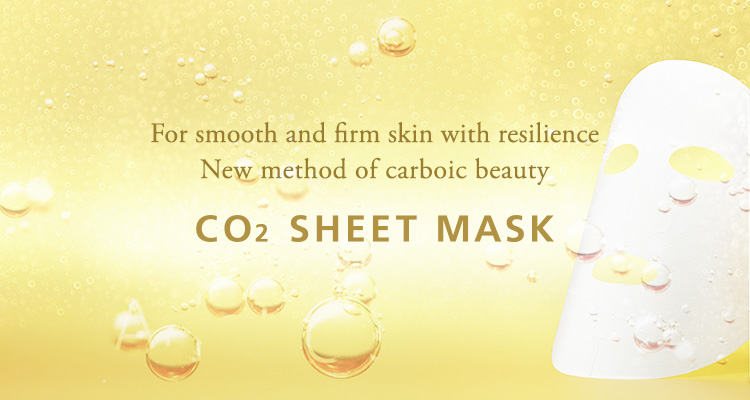 For smooth and firm skin with resilience New method of carboic beauty CO2 SHEET MASK